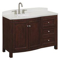 allen + roth Moravia Sable Undermount Bathroom Vanity with Engineered Stone Top 48-in x 20-in