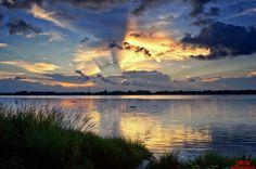A warm sunset by Susom Majumder, via 500px