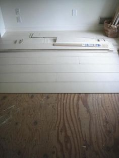 low cost painted wood floors