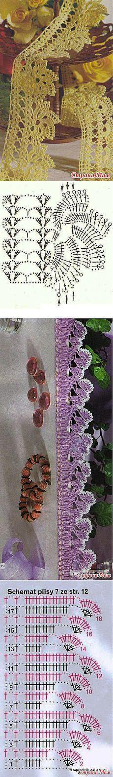 En la tesorería: 2 gancho de llanta. #CrochetEdging