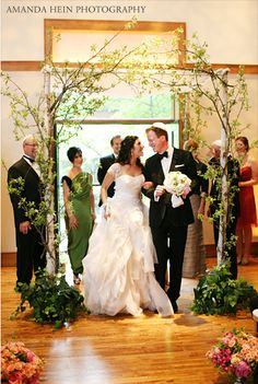 simple chuppah...not that I'm Jewish but I like the trees.