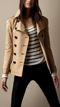 Stretch-Cotton Heritage Jacket | Burberry Brit