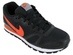 Nike Air Waffle Trainer - Black / Team Orange-White-Cool Grey, 12 D US