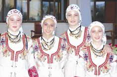 Cypriot women in traditional costume