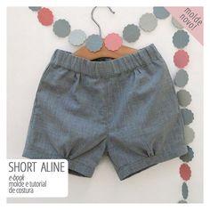 short infantil - molde e tutorial de costura                                                                                                                                                                                 Mais