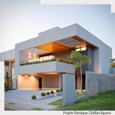 modern homes mansions rich pools condos architecture design style aesthetics millionaire biggest houses beach homes stunning design elegant projects. House Front Design, Bungalow House Design, Modern House Design, Modern Architecture House, Residential Architecture, Architecture Design, Amazing Architecture, Villa Design, Facade House