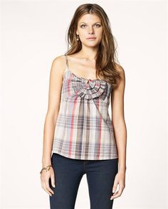 juicy couture brook plaid cami