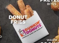 Dunkin' Donuts Rolls Out Cinnamon Sugar Donut Fries And We're All In Cinnamon Sugar Donuts, Cinnamon Rolls, Dunkin Donuts, Fries, Homemade, Cinammon Rolls, Hand Made, Do It Yourself