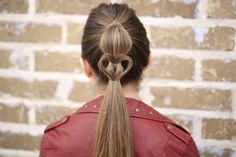 Cute Heart Ponytail | Cute Girls Hairstyles