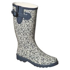 Ditsy Floral Rain Boots -