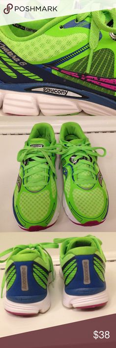 """Saucony natural series Sz 9 EUC Saucony natural series """"heel to toe 4mm offset""""  Kinvara 6 Running shoes with Run Dry liner. Literally worn 3 times.   Size 9 EUC Saucony Shoes"""