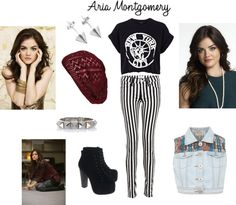 """Aria Montgomery Inspired"" by lana-eve-mason ❤ liked on Polyvore"