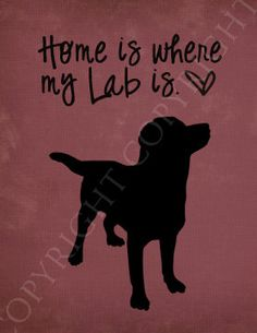 True story!   Labrador Art Print - 8x10 Custom Silhouette Art Print- Home is Where my Labrador is. $14.00, via Etsy.
