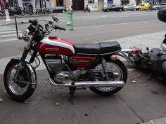 This was my second motorcycle the Suzuki GT 250. This color, this year model. I loved this little bike. At the time I really thought it was shit hot. It would out run any 350 Honda on the road back then and give local Yamaha Riders a fit too. I wish I had never let t his one escape me.