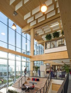 Timber Architecture, Architecture Awards, Architecture Design, Atrium Design, Facade Design, Believe, Halle, Timber Roof, Open Staircase