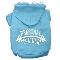 Personal Trainer Screen Print Pet Hoodies Baby Blue Size XXL (18)