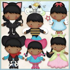 Halloween Costume Kids 2 - Digi Web Studio Clip Art Download by Kristi W. Designs for Personal & Commercial Use on Etsy, $2.00
