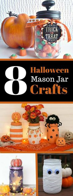 It's time to get your Halloween Mason Jar Craft on!! Check out these 8 crafty bloggers fun ideas for making your spooky day spectacular! | It's part of our monthly Mason Jar Monday blog hop. Won't you join us?