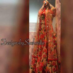 Floral love ❤ #allthingsbridal #couture #custommade #indianblogger #indianfashion #indiancouture #desibride #indianbride #anarkali #uk #ukpunjabi #usa #california #atlanta #melbourne  #sydney #designsbysushmita #simicouturepret #thesaristory