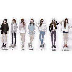 Bangtan Diary (BTS) - BTS ideal girl's fashion - Wattpad