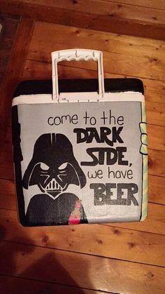 Star Wars Darth Vader dark side beer cooler fraternity