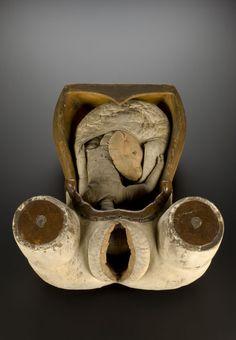 Ferramenta obstétrica para ensinar estudantes de medicina e parteiros sobre o parto. 1700-1800