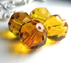 #Topaz Faceted #Glass #Beads #handmade #thecraftstar $2.75
