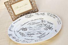 // Guest Signature Platter
