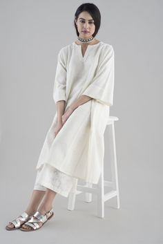 NOOR A summer collection of tonal silhouettes with intricate chikankari embroidery.
