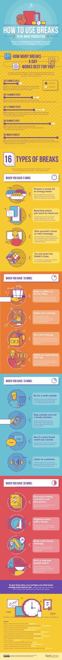 Comment utiliser ses pauses pour être plus productif (infographie) ?
