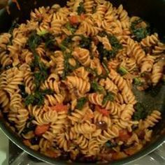 Wholewheat Spaghetti with Kale and Puttanesca Sauce @ allrecipes.co.uk