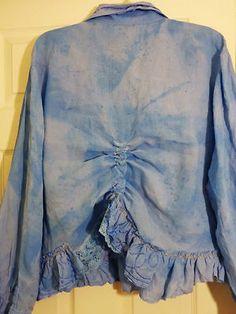 Lalia Moon Jacket Magnolia Coat Pearl Artsy Hand Dye Lagenlook Shabby Victorian   eBay