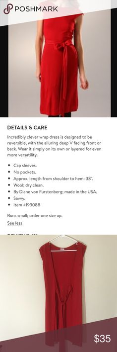 DVF back Wrap dress Excellent condition! No flaws! DVF back Wrap dress. Absolutely beautiful! Diane Von Furstenberg Dresses