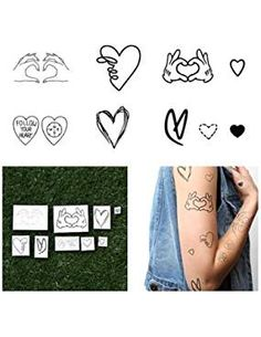 Tattify Assorted Heart Temporary Tattoos. *** More info could be found at the image url. We are a participant in the Amazon Services LLC Associates Program, an affiliate advertising program designed to provide a means for us to earn fees by linking to Amazon.com and affiliated sites.