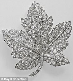 Queen Elizabeth's Canadian Maple Leaf Brooch was a present from George VI to his wife ahead of their 1939 tour of Canada. The Queen Mother treasured the brooch until her death in 2002, whereupon it passed to the Queen. She, in turn, lent it to the Canada-bound Duchess of Cambridge last summer for her first royal tour.
