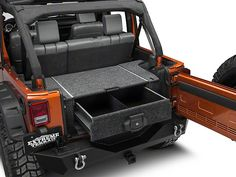 ARB Wrangler Roller Drawer w/ Roller Floor System Jeep Wrangler Yj, Jeep Tj, Jeep Wrangler Interior, Jeep Mods, Jeep Camping, Motorcycle Camping, Jeep Wrangler Accessories, Jeep Accessories, Tandem