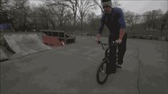 The gif that keeps on giving: Tim Knoll showcases amazing skill at flatland riding in one awesome re-looping file