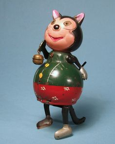 Japanese Felix the Cat  Mechanical toy from 50s/ebay
