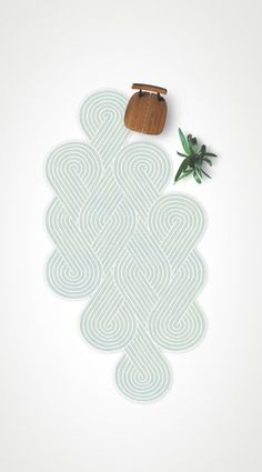 tresse rug by samuel accoceberry for chevalier edition