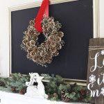 Winter Pine Cone Wreath DIY Tutorial