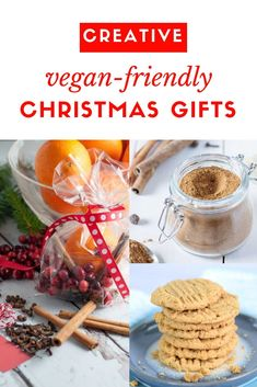 Christmas Gifts for Vegetarian and Vegan Foodies! Easy Vegan Dinner, Vegetarian Recipes Dinner, Vegan Dinners, Vegan Vegetarian, Vegan Christmas, Christmas Baking, Christmas Recipes, Dairy Free Recipes, Vegan Recipes