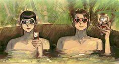 Spock & McCoy (damn spones)