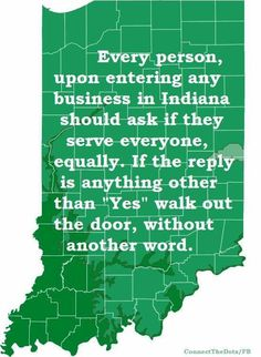 Good advice for shoppers in #Indiana - #BoycottIndiana #nohate