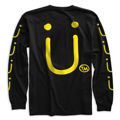 Jack Ü Logo Long Sleeve - Back. I might wear this if Diplo and Skrillex would make more cool songs together. Honestly, Where are ü now and take ü there are the best songs on their new album