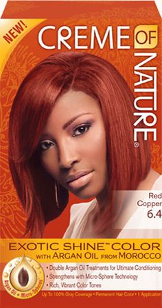 64 red copper exotic shine hair color creme of nature - La Rich Coloration