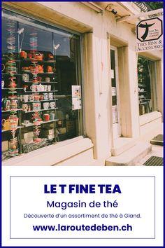 Boutique située à Gland en Suisse, elle propose un très grand assortiment de thé plus gourmand les uns que les autres. #tea #vaud #gland #food Restaurants, Gland, Photo Wall, Tea, Home Decor, Fruit Tea, Cup Of Tea, Switzerland, Fine Dining