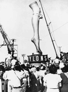 Nylon stockings sold to the public for the first time in Wilmington, Delaware…