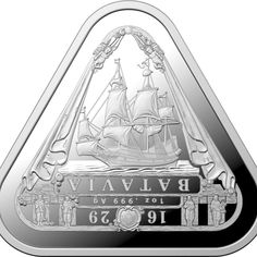 My Collectables 2019 Silver Triangular Bullion Coin - Batavia RAM Silver Coins For Sale, Old Silver Coins, Gold Coins, Bullion Coins, Gold Bullion, East India Company, Coin Shop, Mint Coins, Shipwreck