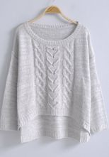 To find out about the Light Grey Long Sleeve Loose Pullovers Sweater at SHEIN, part of our latest Sweaters ready to shop online today! Loose Knit Sweaters, Winter Sweaters, Pullover Sweaters, Knitted Poncho, Knit Cardigan, Summer Cardigan, Vintage Sweaters, Cardigans For Women, Knitwear
