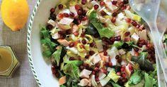 Deze koolhydraatarme witlofsalade staat regelmatig op het menu. Samen met de granaatappelpitjes voor wat frisheid en kip voor de benodigde eiwitten een complete maaltijd. Potato Salad, Potatoes, Ethnic Recipes, Food, Salads, Seeds, Potato, Meals